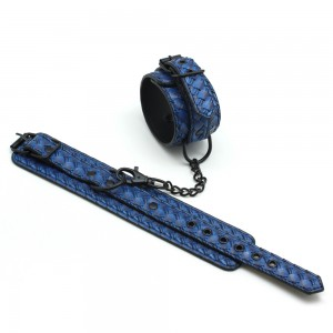 SM Adjustable Sexy Imitation woven  Leather Bondage  Handcuffs