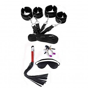 Bed Restraints Handcuffs With Harness Blindfold Whips