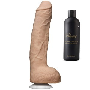 Doc Johnson 12 Inch Ultraskyn Dildo With Removeable Suction Cup 8oz Lube include