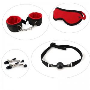 Bondage Handcuffs & Ankle Cuffs Kit BDSM Bondage Flirting Sex Toys Games Erotic Accessories
