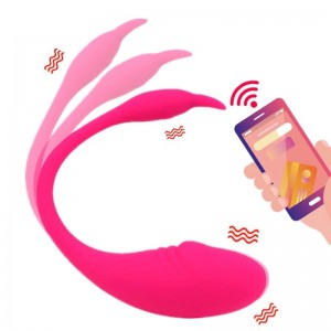 Vaginal Dildo Vibrator Bluetooth APP Vibrator Wireless Remote Control Vibrating Egg