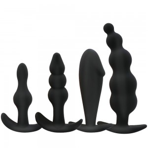 4 Style Silicone Anal Butt Plug Sex Toy For Beginners