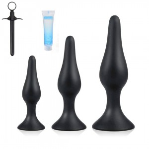 5pcs SIlicone Butt Plug Anal Plug Set Anal Sex Toys Kit For Beginner