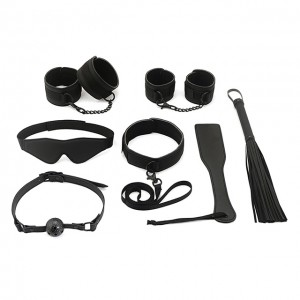 SM Adjustable Leather Whip Bondage Kit