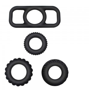 Premium Stretchy Silicone Cock Rings Set For Men