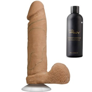 Doc Johnson 8 Inch Realistic Dildo Cock With Removable Suction Cup And 8oz Lubricant include