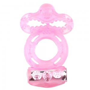 Penis Ring  with Vibrator Jelly  Cock Ring Delay Premature Ejaculation for man