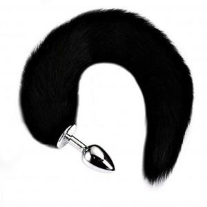 Stainless Steel Plug Anal Plug Butt Plug with Soft Wild Fox Tail
