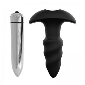 Soft Silicone Amal Vibrator vibranting Butt Plug Massager  Waterproof for Men Women