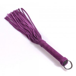 Genuine leather handmade suede whip